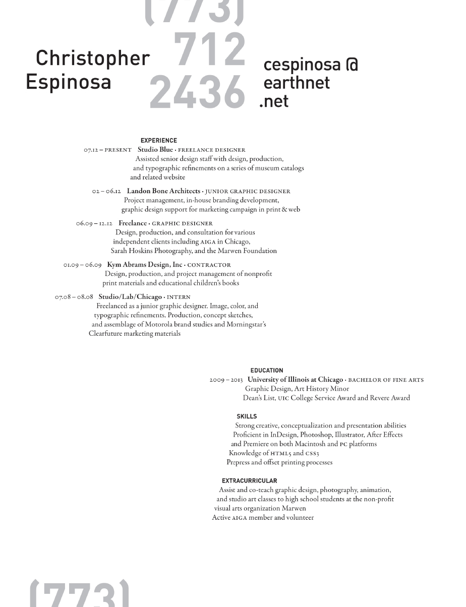 Resume Design – MICHAEJ